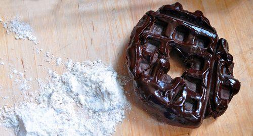 Waffled double-chocolate doughnuts — Will It Waffle?