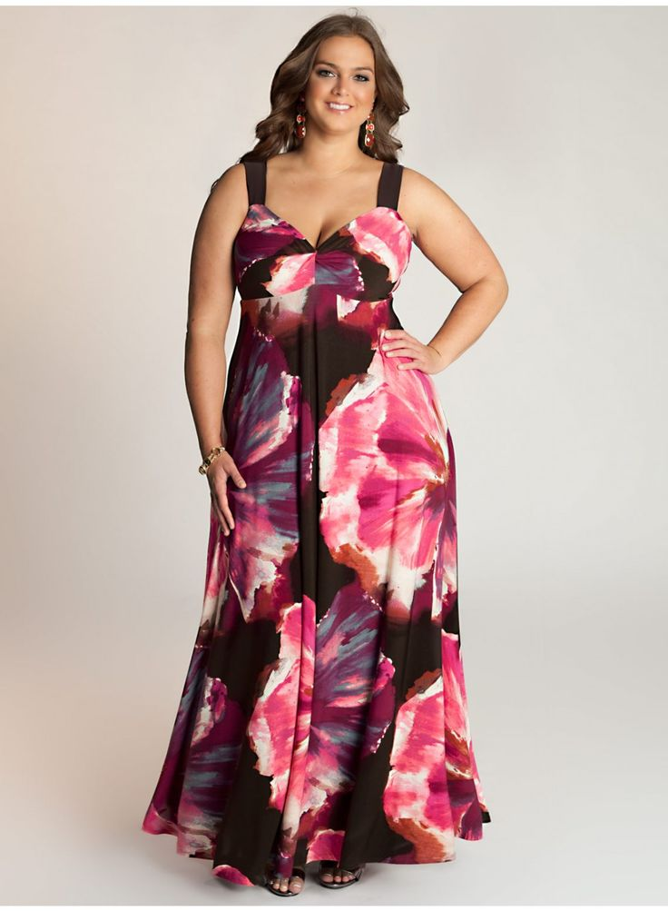 Plus size maxi dresses for beach wedding