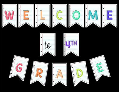 Create a welcoming classroom for your new students with this free welcome sign with a lined paper background.