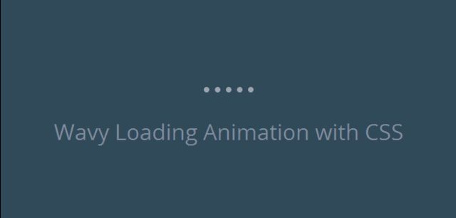 Create wavy preloader animation with CSS3