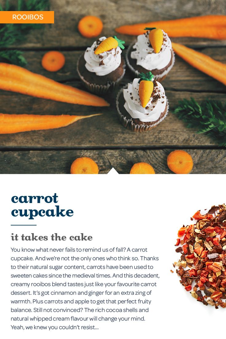 ... carrot cupcake. And this sweet, creamy blend of carrot, ginger and