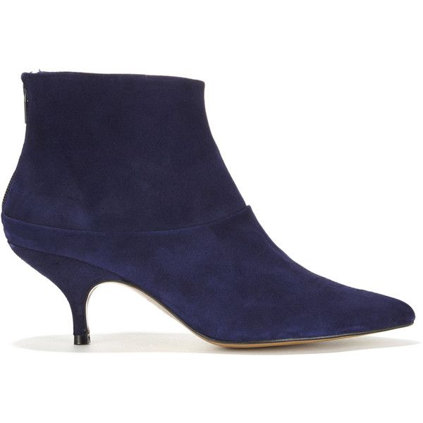 2a0e3e2210f Finery London Erica Navy Suede Ankle Boot ($195) ❤ liked on ...