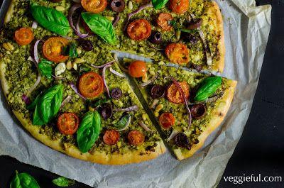 Veggieful: Vegan Pesto Pizza Recipe