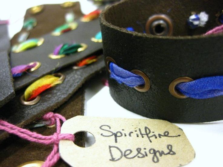 Spiritfire Designs sustainable fashion leather armband