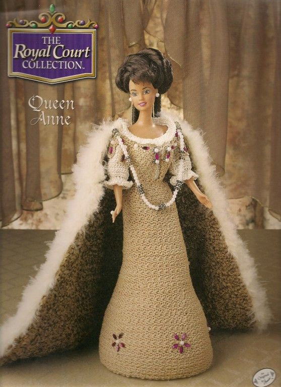 Barbie Crochet, Royal Court Collection, Queen Anne, pattern http://knits4kids.com/collection-en/library/album-view?aid=26347