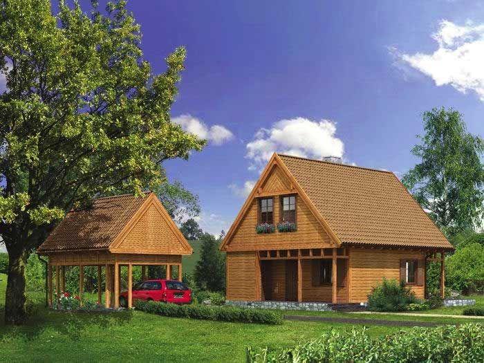 Jest to przytulny i zdrowy, zaprojektowany w technologii szkieletu drewnianego dom letni, w którym może wypocząć nie tylko kilkuosobowa rodzina, ale i ich goście.