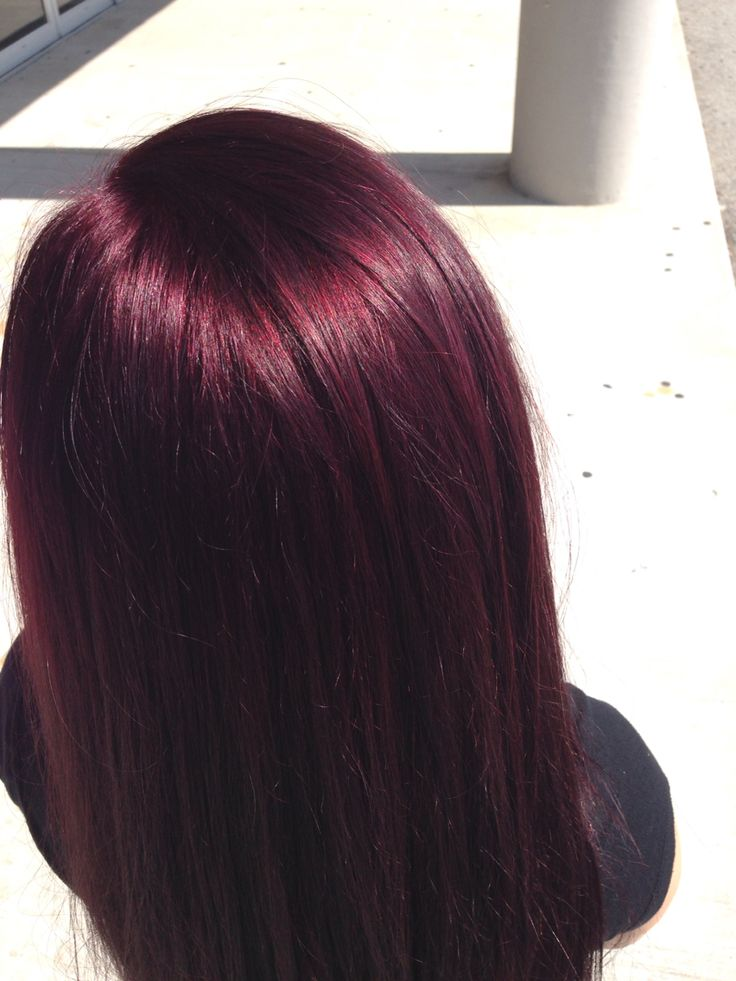 find this pin and more on - Burgundy Violet Hair Color