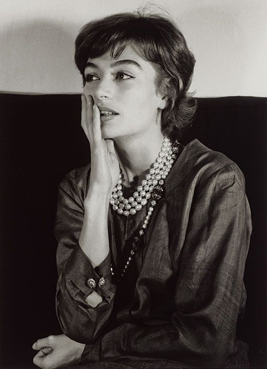 """ Anouk Aimée"" 1962, by Gisèle Freund who was a German-born French photographer"