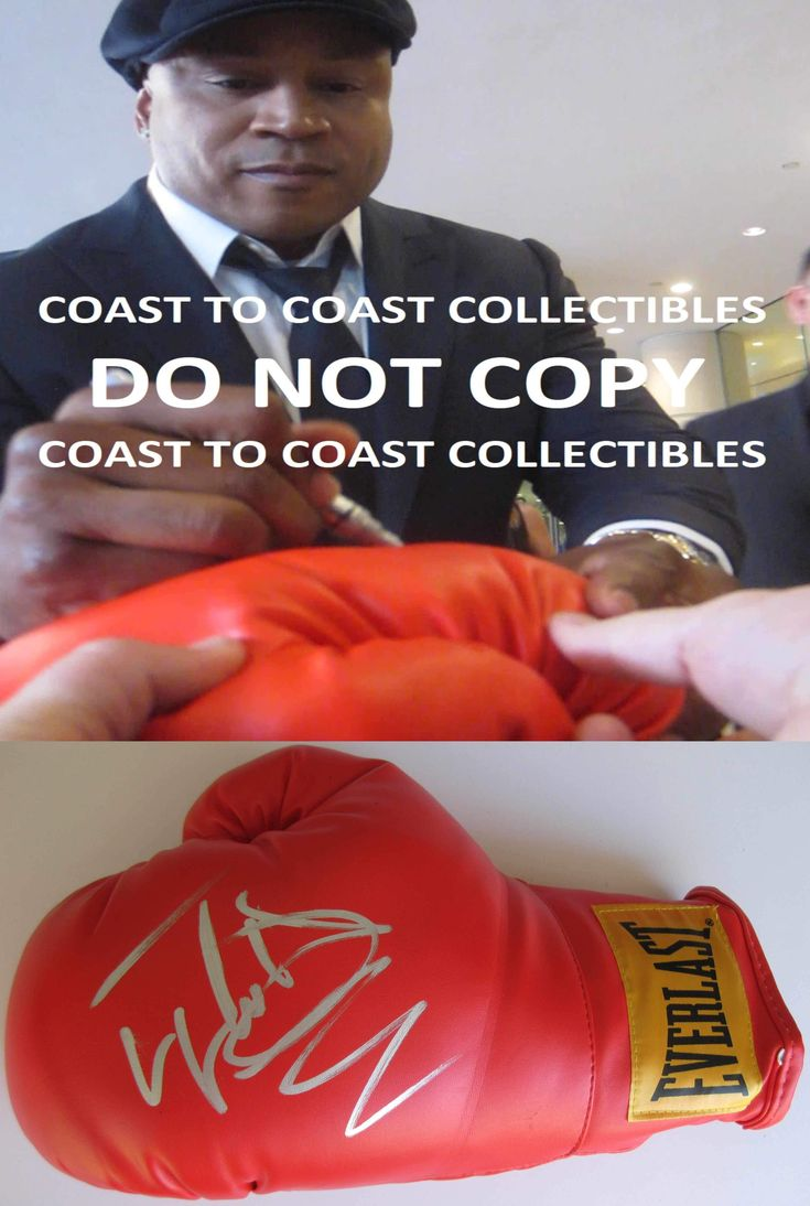 LL Cool J, American Rapper, Actor, Signed, Autographed, Boxing Glove, a COA with the proof photo will be Included.STAR