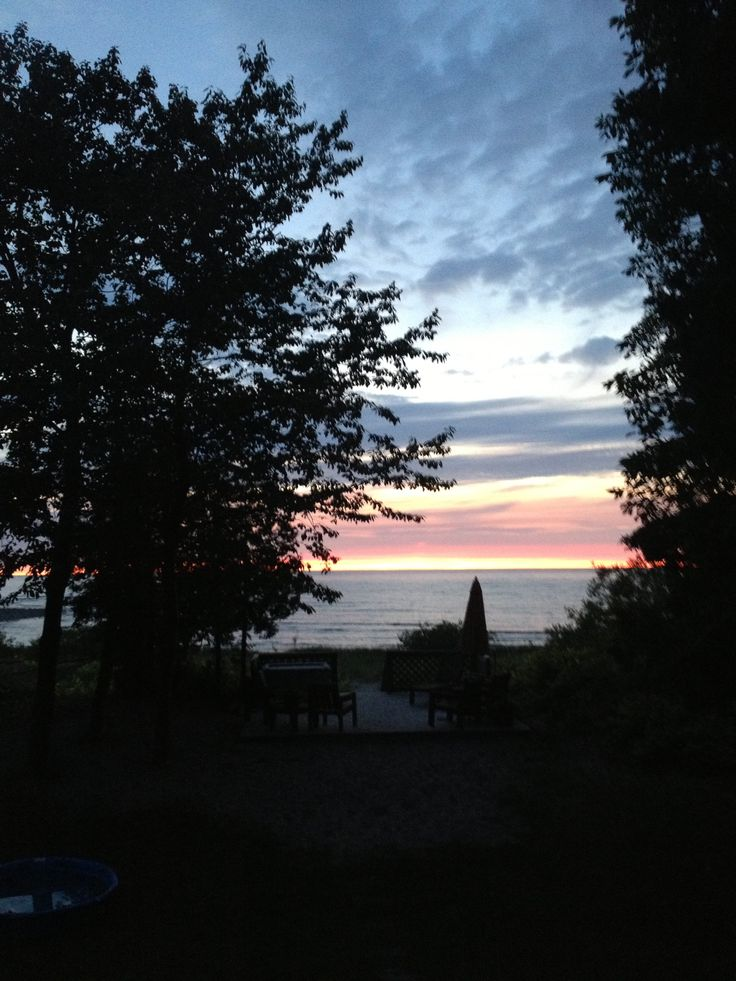 Sunset in Kincardine, Ontario on Lake Huron