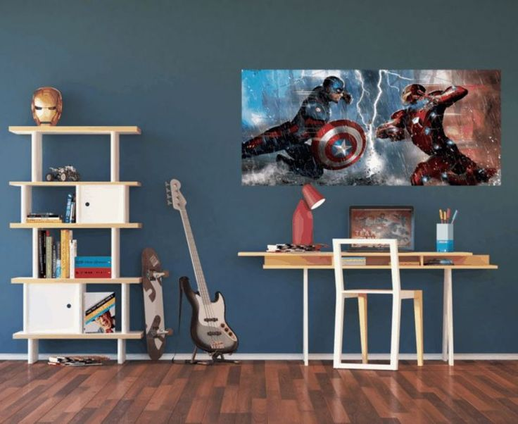 Captain America Vs Iron Man Magical Wall Mural. New Collection By  WallandMore! Part 92