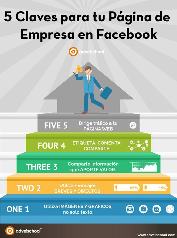 5 claves para tu página de empresa en Facebook #infografia #infographic #socialmedia