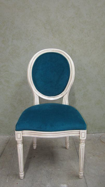 "The new finish of Rachel's chair, done by AM Furniture Finishing. Rachel's testimonial: ""Andy did a great job of taking a chair (given to me by a close friend) and repaired and refinished it to a beautiful antique white! It was the exact colour I was looking for!"""
