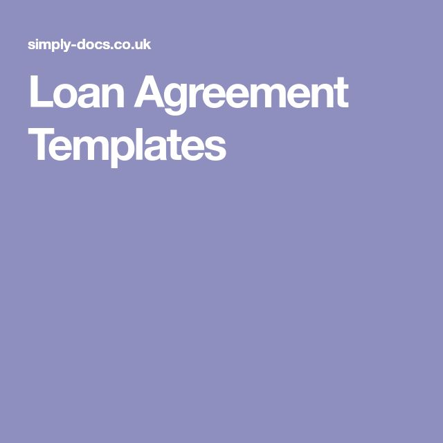 7 best Loan template images on Pinterest Fracture mechanics and - free loan template
