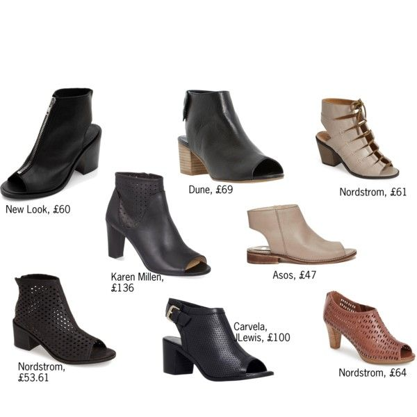 Open Toe Booties by gotines on Polyvore featuring Kelsi Dagger Brooklyn,  Karen Millen, Carvela