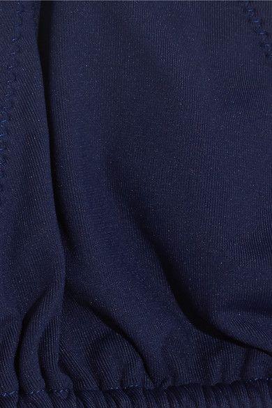 Melissa Odabash - Cannes Halterneck Triangle Bikini Top - Navy - UK