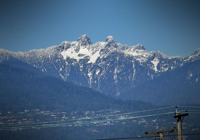 View of The Lions, Coastal Mountains from Vancouver Heights