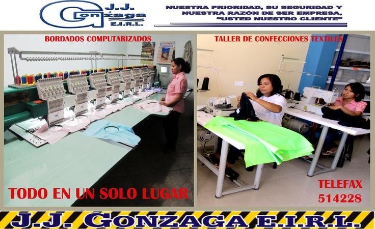 ...todo en bordados computarizados y confecciones textiles...