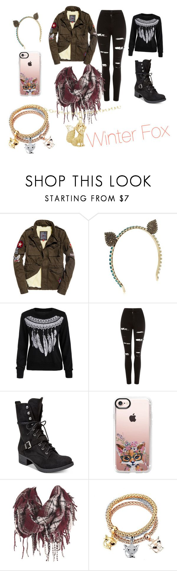 """Winter Fox"" by tigerlily-ds on Polyvore featuring Vittorio Ceccoli, Topshop, American Rag Cie, Casetify and Temple St. Clair"