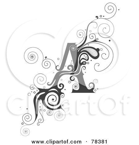 78381-Royalty-Free-RF-Clipart-Illustration-Of-A-Vine-Alphabet-Letter-A.jpg 450×470 pixels