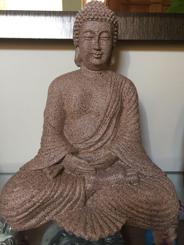 Buda pintado con rusteum  oleum, imitación piedra color arena