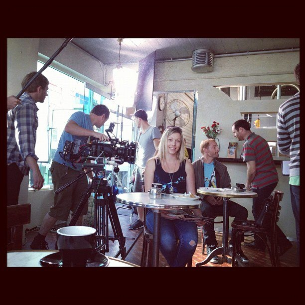 Lauren, StarNow's NZ Casting Manager on the set of 'How to Meet Girls from a Distance'