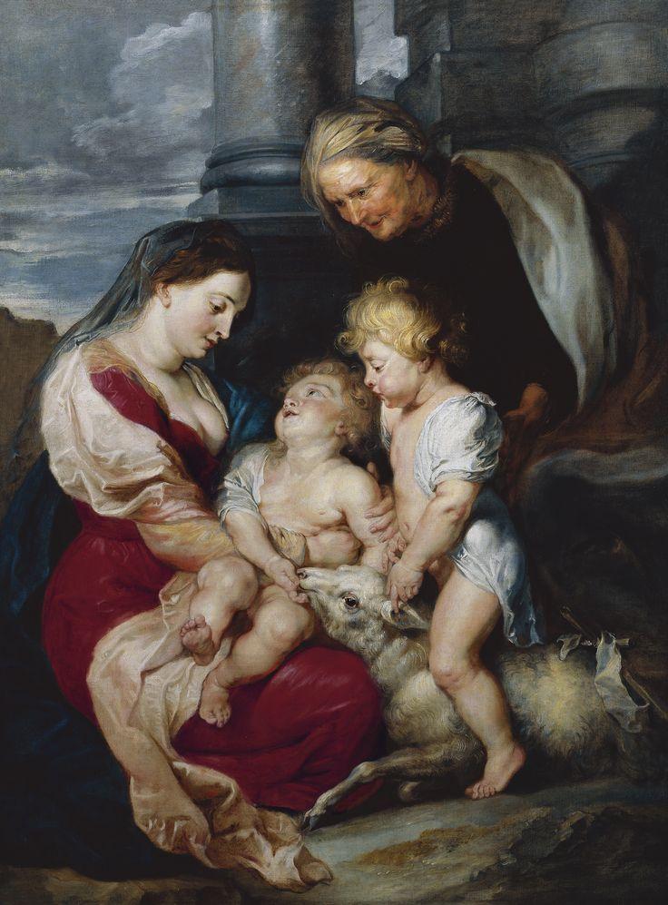 The Virgin and Child with Saint Elizabeth and Saint John the Baptist / La Virgen con el Niño, santa Isabel y san Juan Bautista // ca. 1618 // Peter Paul Rubens // © Thyssen-Bornemisza Museum
