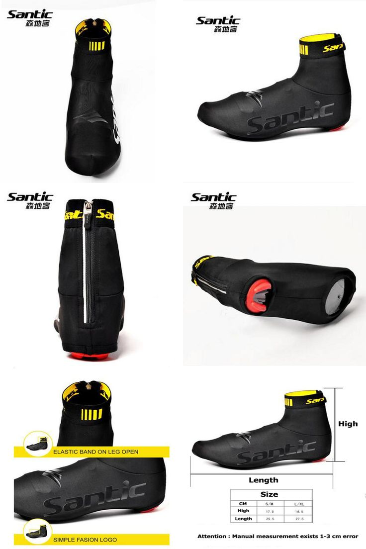 [Visit to Buy] Santic Winter Cycling Shoe Covers Zippered Overshoe MTB Bike Bicycle Racing Windproof Men Women Copriscarpe Ciclismo SK0018 #Advertisement
