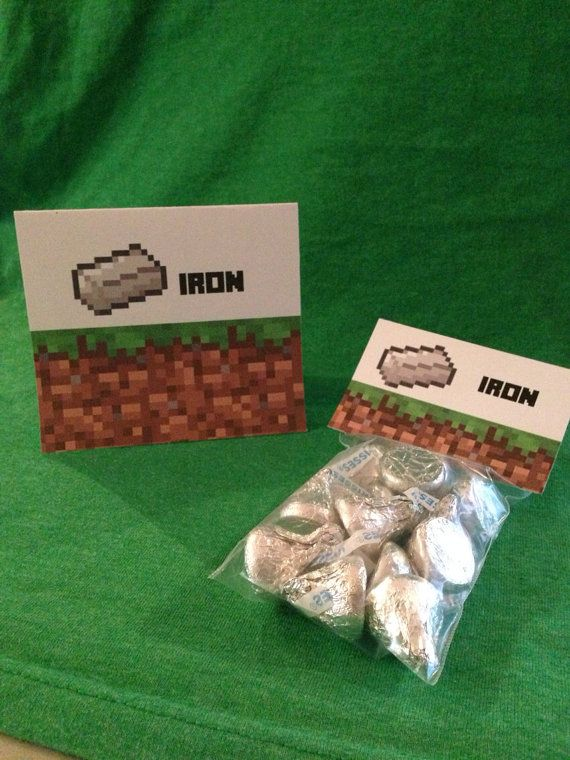 Minecraft Goodie Bags Candy Wilton 3x4 Clear Treat Tented Food Cards Available At Catchmyparty Blog Free Party Pr