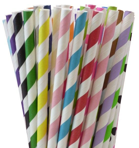 Greenmunch - Paper Straws (500) - Select 20 Colors, $55.00 (http://www.greenmunch.ca/paper-straws/paper-straws-500-select-20-colors/)