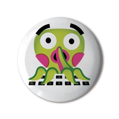 ❤️ #BBOTD Stereohype #button #badge of the day by Peskimo https://www.stereohype.com/493__peskimo #emoji #typo #octopus 🐙 #thestoryofemoji • Another great #stbbmp contender • #design #illustration #random #graphicart #fashion #accessories #accessorize #menstyle #menswear #mensfashion #womenstyle #womensfashion #style #lapel #pin #london #giftidea #giftideas