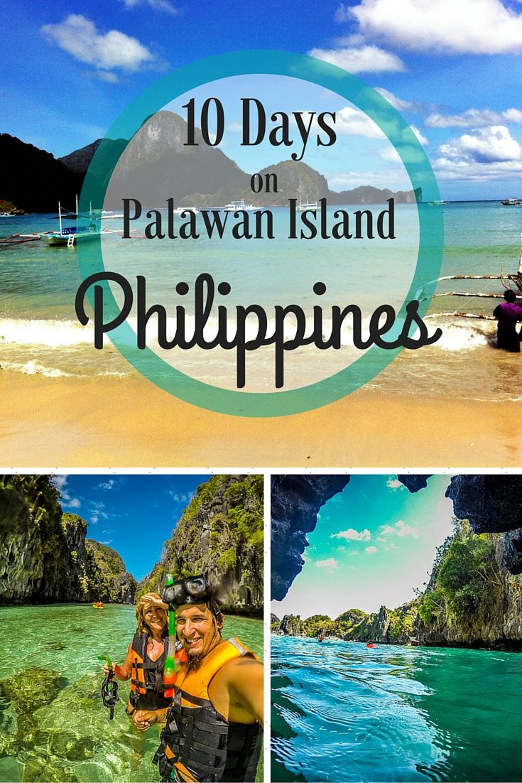 10 Days on Palawan Island Philippines Pin