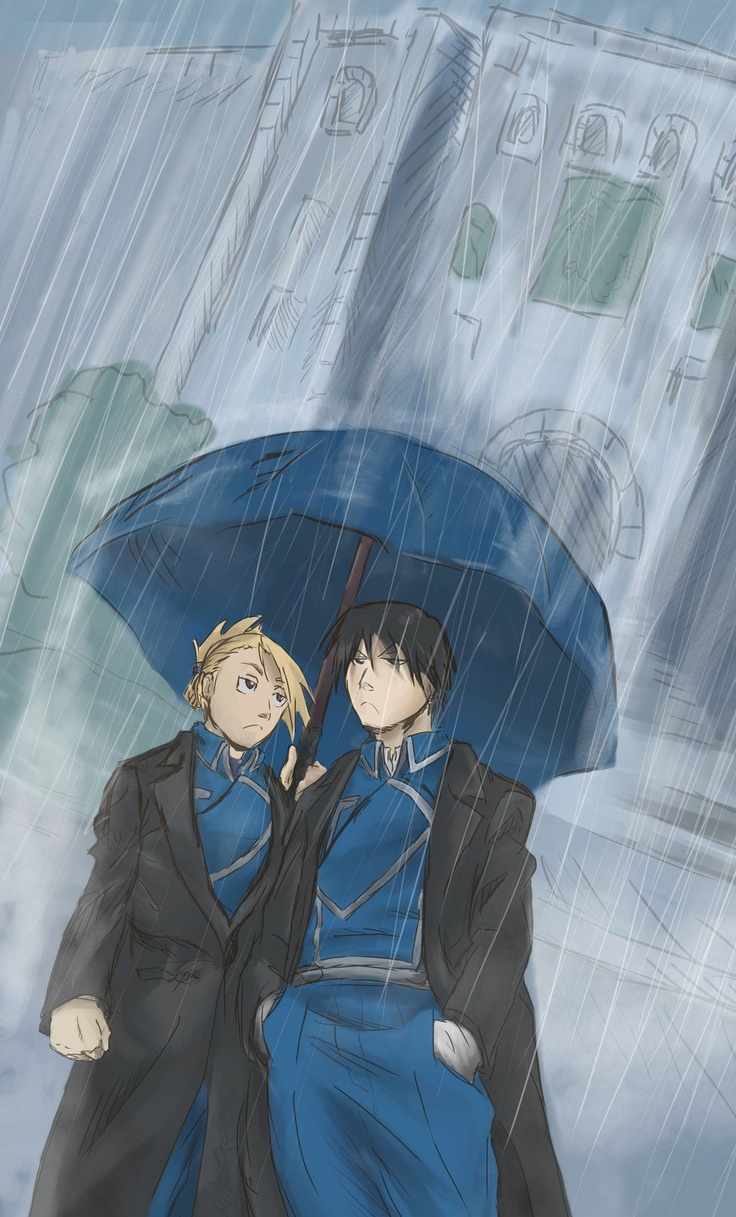 17 best images about full metal alchemist hawkeye not sure if it came across but i was aiming to make their expression a bit comical side note i hate making backgrounds stuck in the rain