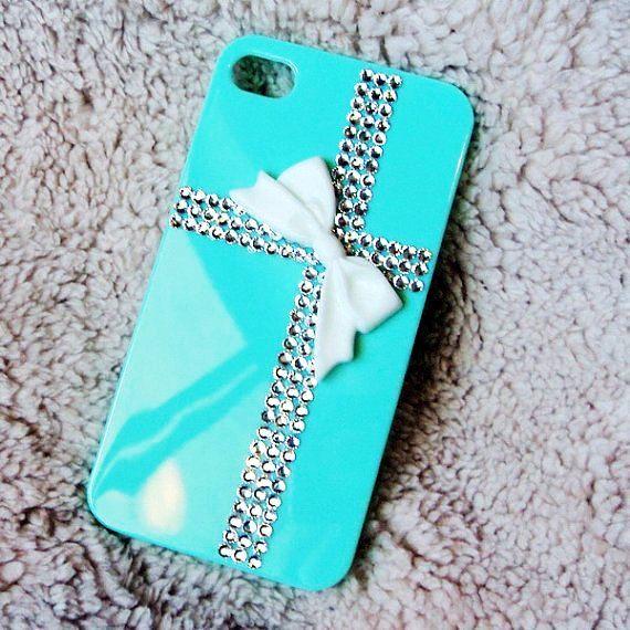 Tiffany Rhinestone Crystal Cute iPhone 4S Cases For Girls