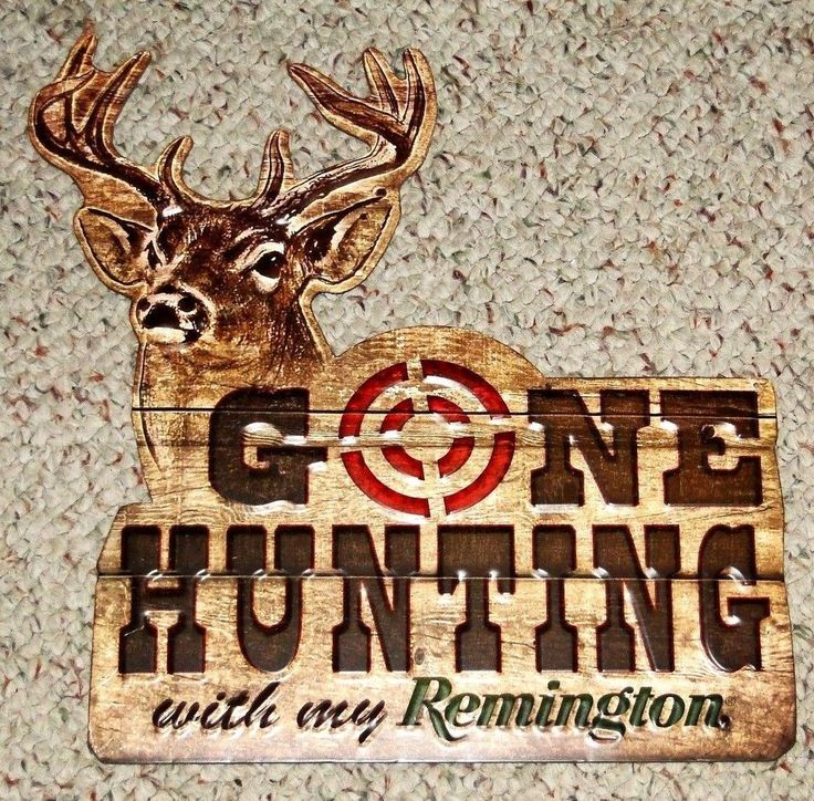 Gone Hunting With My Remington Metal Sign Deer Target Gun Hunting  #Unbranded