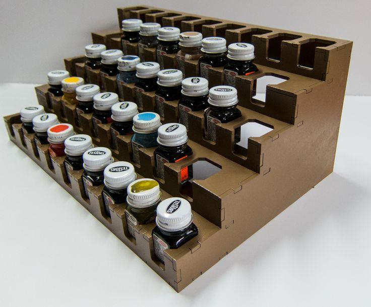 GameCraft Miniatures - Paint Rack - Testors Square Enamels, $24.75 (http://gcmini.mybigcommerce.com/paint-rack-testors-square-enamels/)