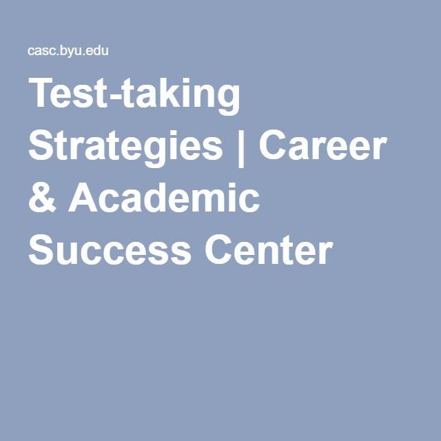 Test-taking Strategies | Career & Academic Success Center