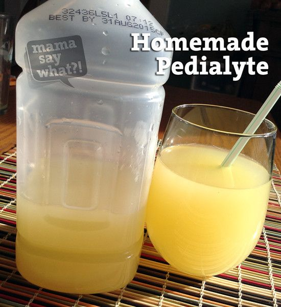 Homemade Pedialyte--a great hangover cure and the taste of store-bought pedialyte is worse than the hangover itself!