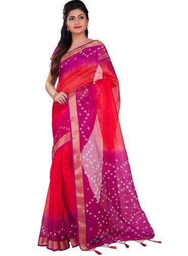 kota Silk Bandhej saree With  Border  #saree, #festivalsaree, #bucksbenefit #onlinesaree, #desigersaree, #partywearsaree, #colorfulsaree, #handworksaree