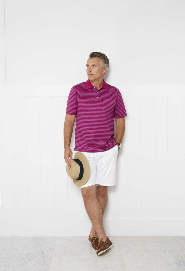Featuring a timeless pattern and on-trend colourway, every man can find use for the twin stripe polo. Constructed from pure Egyptian cotton, the pique knit makes it exceptionally breathable for the warmer months ahead.