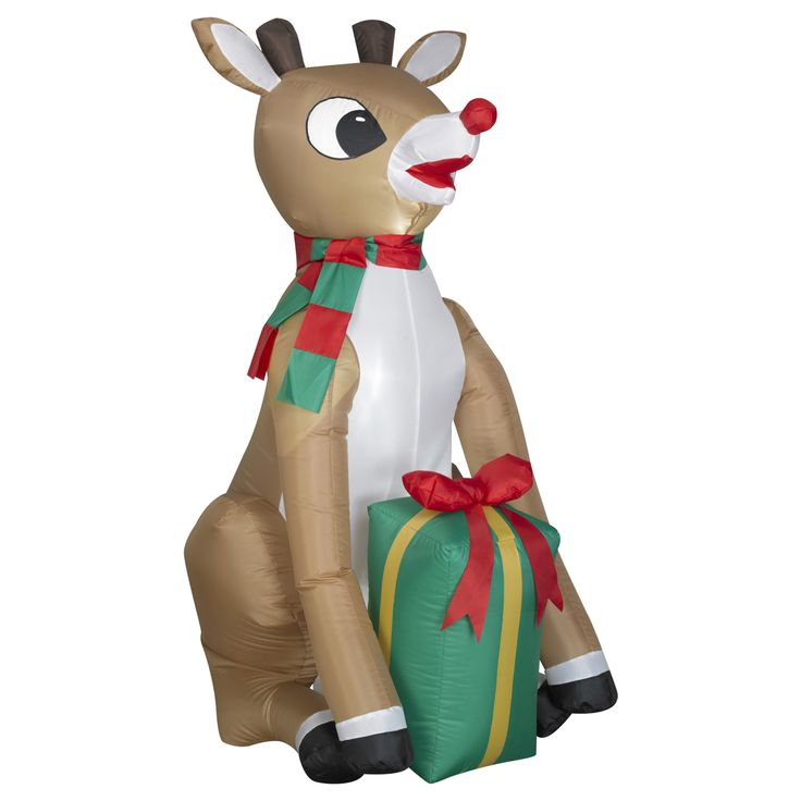 4' Bumble or Rudolph Airblown Christmas Lawn Decoration - Just $19.99! - http://www.pinchingyourpennies.com/4-bumble-or-rudolph-airblown-christmas-lawn-decoration-just-19-99/ #Airblown, #Christmas, #Kmart, #Rudolph