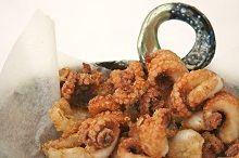 Deep fried salt and pepper baby octopus