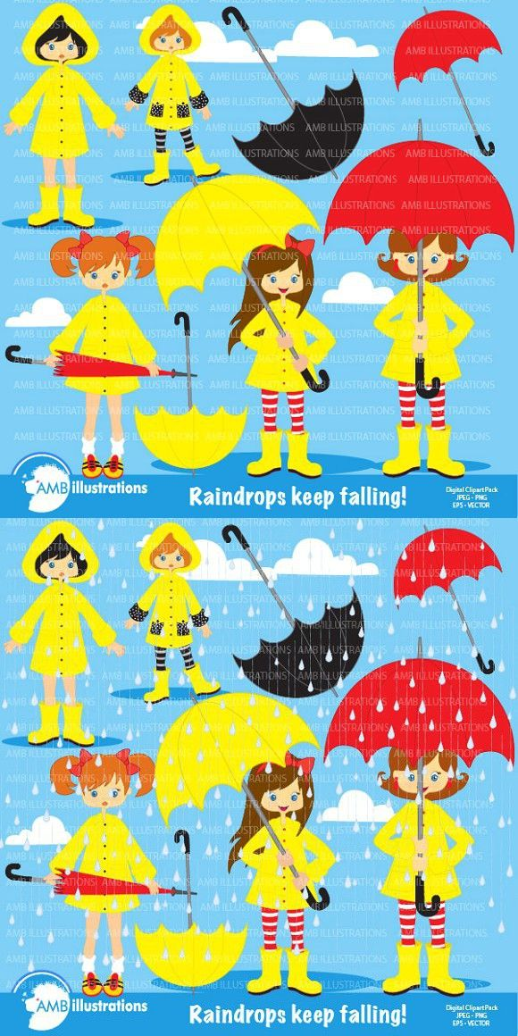 Rainy Days Clipart Amb 217 Image Paper Clip Art Rainy