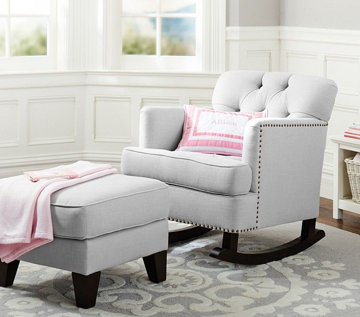 Enter to win your dream nursery from @Pottery Barn Kids (value $4000) + a design consult from Project Nursery!: Gliders Chairs, Nursing Chairs, Tudor Rockers, Modern Rocks Chairs, Upholstered Chairs, Pottery Barn Kids, Baby, Nurseries Chairs, Pottery Barns Kids