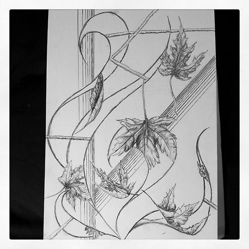 Today's quick sketch : fall leaves