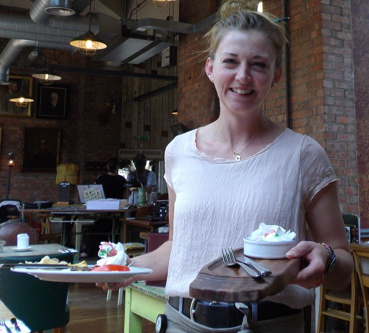 Lucy, our lovely waitress at 'The Cosy Club' in Stamford, June 18th 2014.
