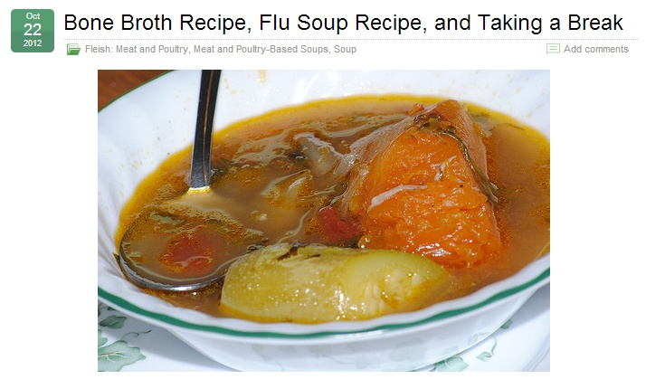 Bone Broth Recipe, Flu Soup Recipe