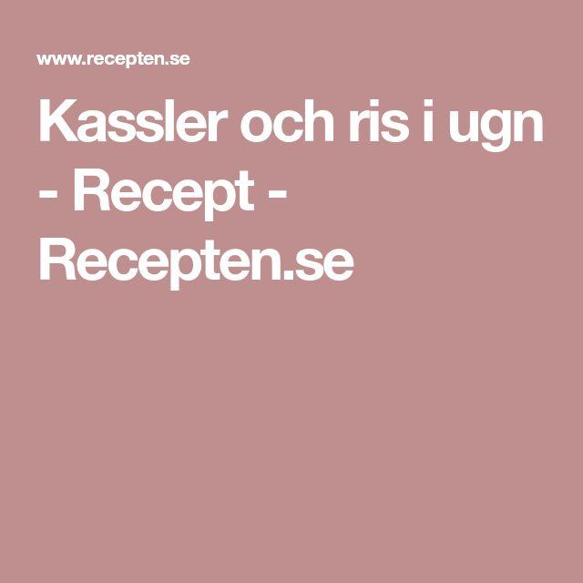 Kassler och ris i ugn - Recept - Recepten.se
