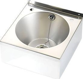 Franke Model B Wall-Hung Wash Basin 2 Tap Hole Traditional design. Stainless steel. Wash basin and waste. http://www.comparestoreprices.co.uk/january-2017-9/franke-model-b-wall-hung-wash-basin-2-tap-hole.asp