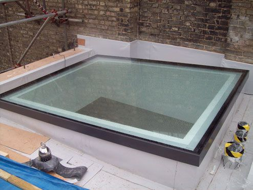 Glazing Vision Rooflights, Skylights and Glass Roofs- Flushglaze Rooflights